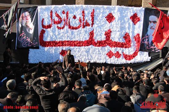 گزارش تصویری/عزاداری هیات فاطمیون رفسنجان در جوار امامزاده سید غریب