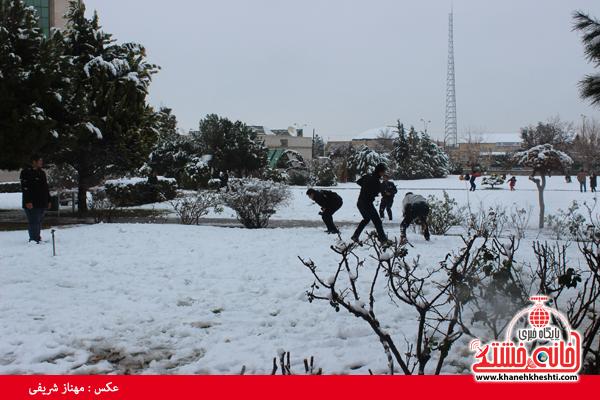 اولین برف زمستانی در رفسنجان(خانه خشتی)۱۱