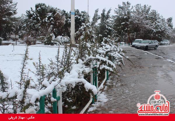 اولین برف زمستانی در رفسنجان(خانه خشتی)۱۳