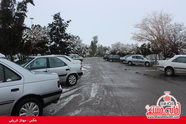 اولین برف زمستانی در رفسنجان(خانه خشتی)۱۴