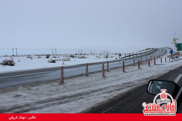 اولین برف زمستانی در رفسنجان(خانه خشتی)۱۸