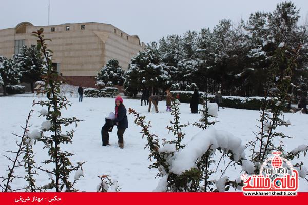 اولین برف زمستانی در رفسنجان(خانه خشتی)۲