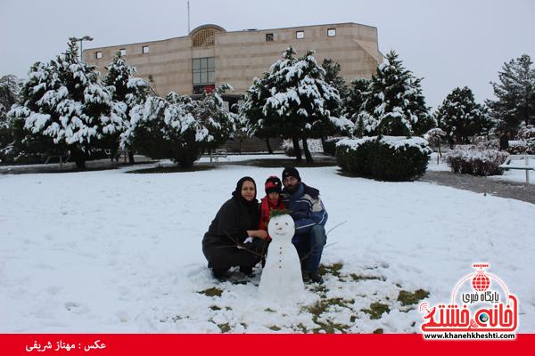 دوربین خانه خشتی/اولین برف زمستانی در رفسنجان
