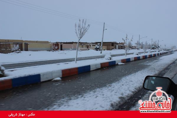 اولین برف زمستانی در رفسنجان(خانه خشتی)