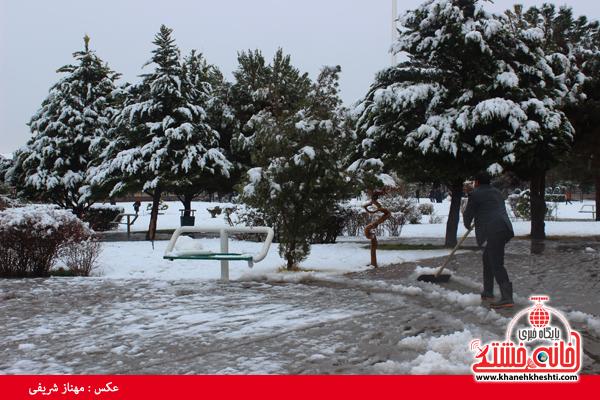اولین برف زمستانی در رفسنجان(خانه خشتی)۵