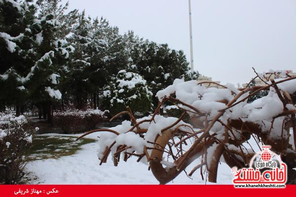 اولین برف زمستانی در رفسنجان(خانه خشتی)۶