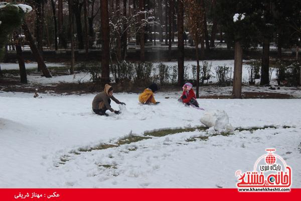 اولین برف زمستانی در رفسنجان(خانه خشتی)۸