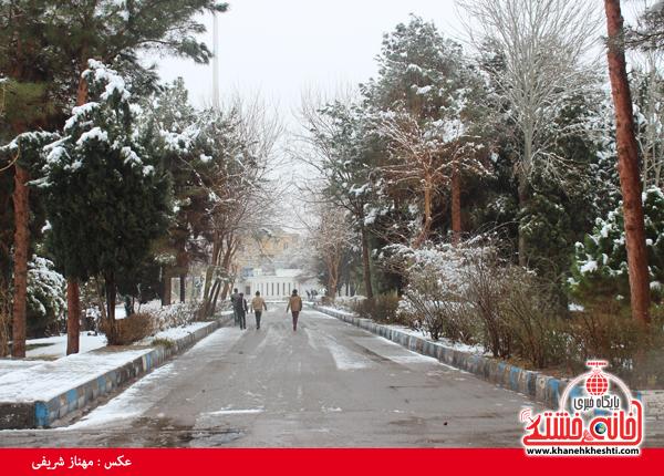 اولین برف زمستانی در رفسنجان(خانه خشتی)۹