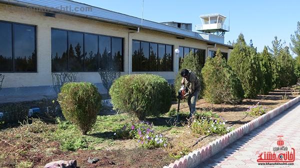 ۲۱ هکتار از فضای سبز فرودگاه رفسنجان به کاشت انواع گل تخصیص یافت