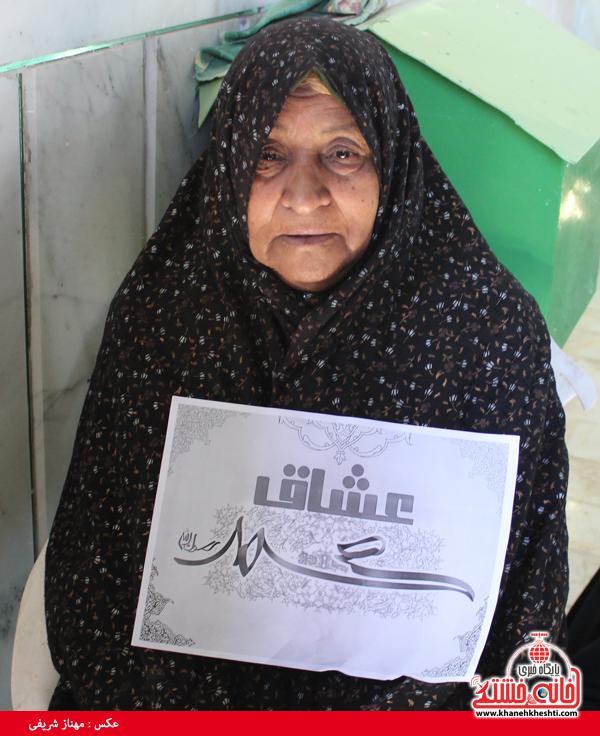 مادر شهید مدافع حرم به کمپین محمد(ص) پیوست
