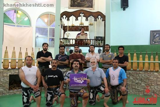 تصاویر/ورزشکاران زورخانه امام علی(ع) رفسنجان به کمپین عشاق محمد(ص) پیوستند