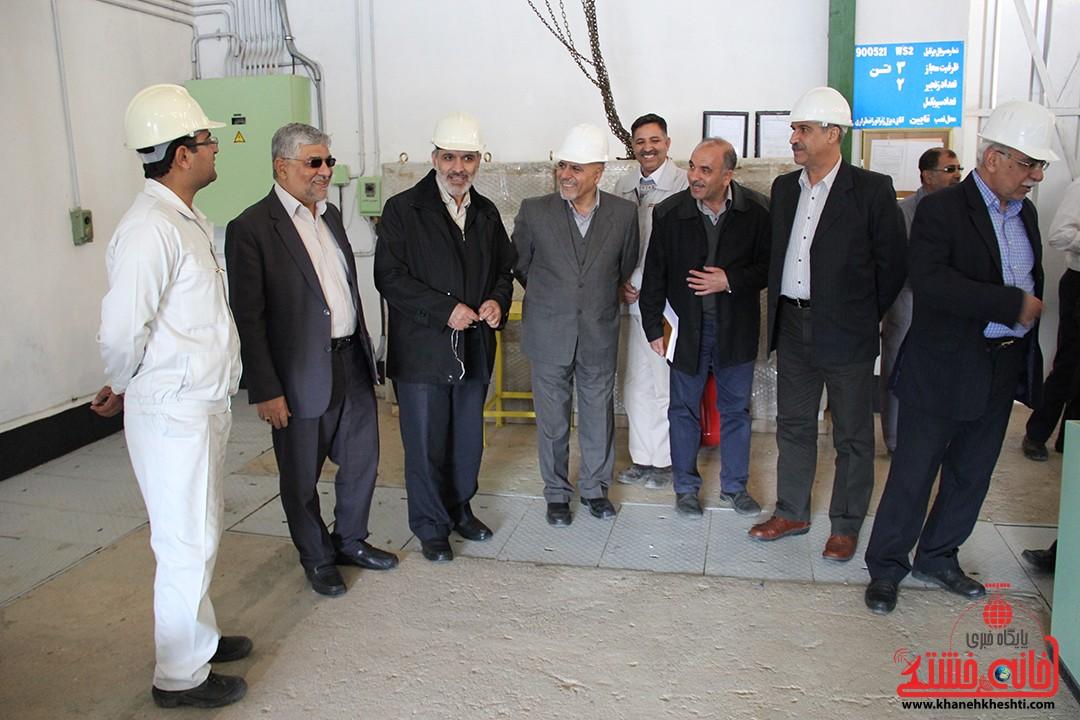 هیات مدیره شرکت خطوط لوله و مخابرات نفت ایران از منطقه جنوب شرق در رفسنجان بازدید کرد