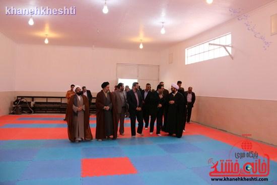 افتتاحیه سالن وشو رفسنجان-نماز وحدت رفسنجان (۶)