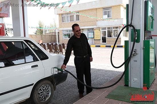 افتتاح جایگاه سوخت گیری در رفسنجان_خانه خشتی (۱)