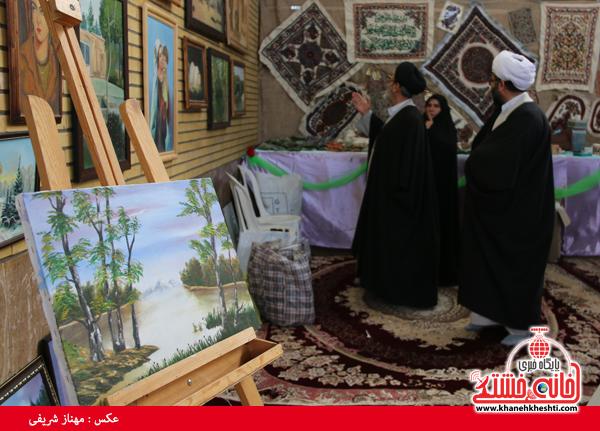 افتتاح نمایشگاه کوثر در مصلی امام خامنه ای رفسنجان(خانه خشتی)