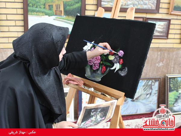 افتتاح نمایشگاه کوثر در مصلی امام خامنه ای رفسنجان(خانه خشتی)۱۵
