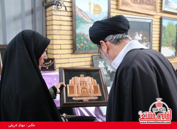 افتتاح نمایشگاه کوثر در مصلی امام خامنه ای رفسنجان(خانه خشتی)۵