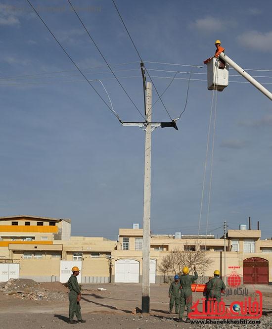 افتتاح پروژه برق رسانی رفسنجان_خانه خشتی (۱)