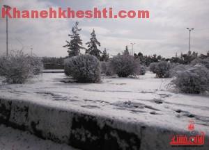برف زمستانی-خانه خشتی۲