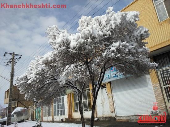 برف زمستانی-خانه خشتی۳