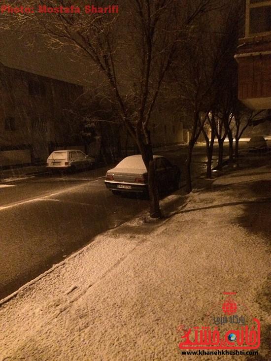 برف زمستانی-خانه خشتی۸