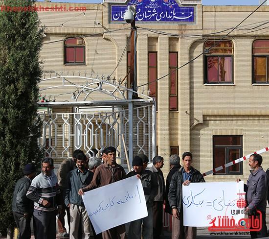 اعتراض کارگران به حضور افاغنه در رفسنجان