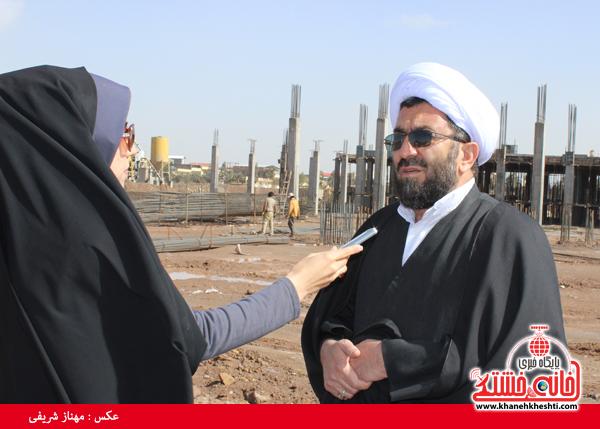 حجت الاسلام رمضانی پور امام جمعه رفسنجان-خانه خشتی.