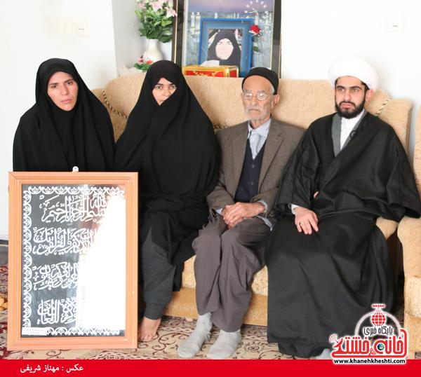 دیدار با خانواده شهدای روستای قاسم آباد رفسنجان(خانه خشتی)۴۵