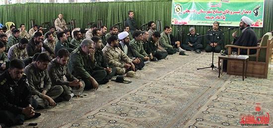 دیدار نیروهای مسلح رفسنجان با امام جمعه شهرستان_دهه فجر_خانه خشتی۴
