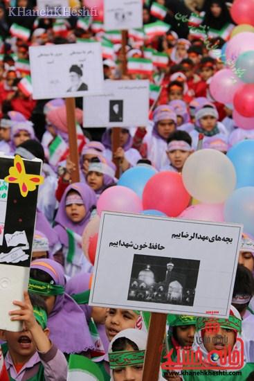 راهپیمایی سربازان کوچک انقلاب اسلامی در رفسنجان دهه فجر۹۳ (۲)