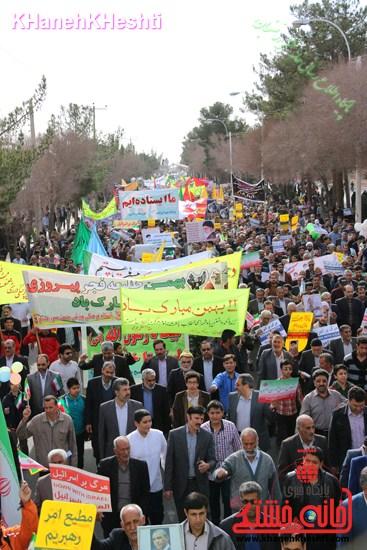 راهپیمایی ۲۲ بهمن در رفسنجان ۲۲ بهمن۹۳ رفسنجان راهپیمایی (۴)