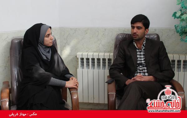مرتضی کارآموزیان در گفت و گو با خبرنگار پایگاه اطلاع رسانی خانه خشتی رفسنجان