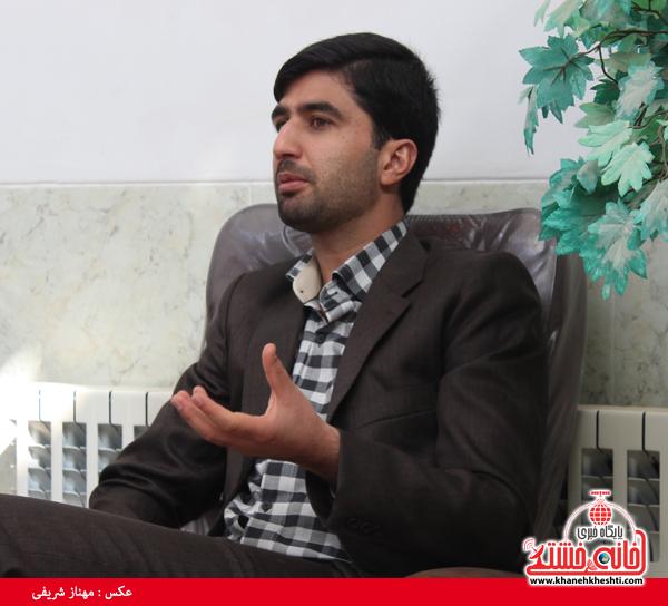 مرتضی کارآموزیان در گفت و گو با خبرنگار پایگاه اطلاع رسانی خانه خشتی رفسنجان۲