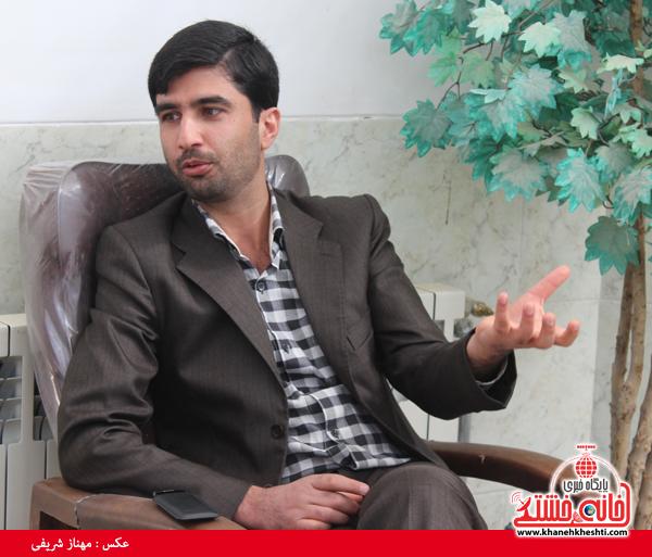 مرتضی کارآموزیان در گفت و گو با خبرنگار پایگاه اطلاع رسانی خانه خشتی رفسنجان۳