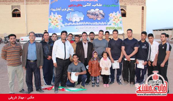 مسابقات طناب کشی روستای عرب آباد شهدای رفسنجان(خانه خشتی)