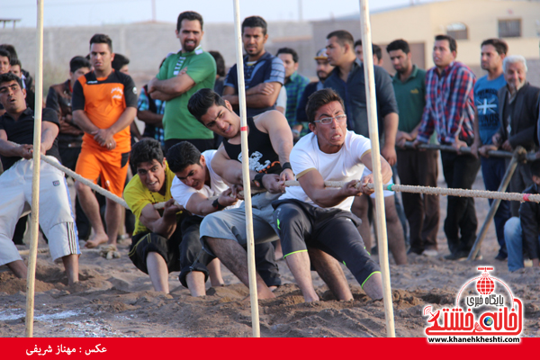 مسابقات طناب کشی روستای عرب آباد شهدای رفسنجان(خانه خشتی)۱۳