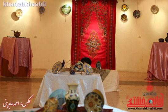 نقاشی گروهی روی سفال نگارخانه فرهنگ رفسنجان (۳)