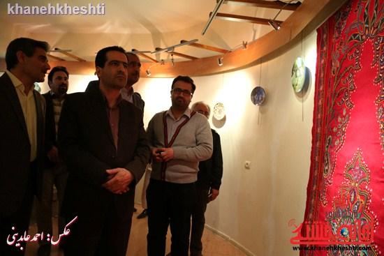 نقاشی گروهی روی سفال نگارخانه فرهنگ رفسنجان (۵)