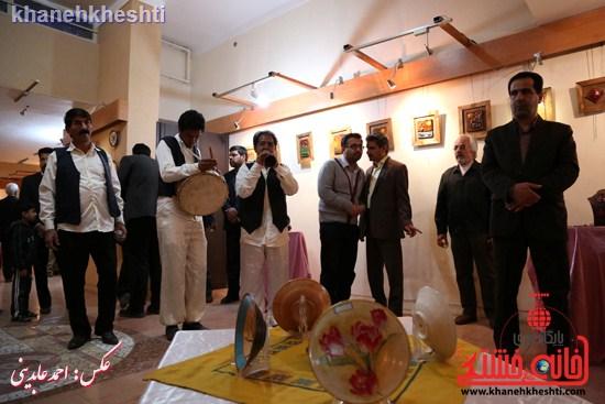 نقاشی گروهی روی سفال نگارخانه فرهنگ رفسنجان (۸)