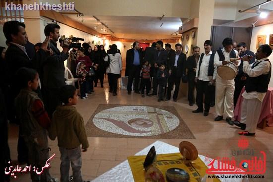 نقاشی گروهی روی سفال نگارخانه فرهنگ رفسنجان (۹)