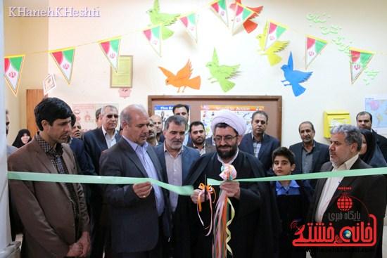 دوربین خانه خشتی در افتتاح نمازخانه محمد رسول الله (ص)