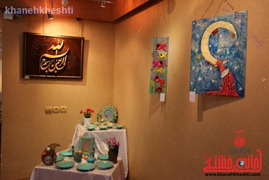 برپایی نمایشگاه «ماهی کویر» در نگارخانه فرهنگ رفسنجان + عکس