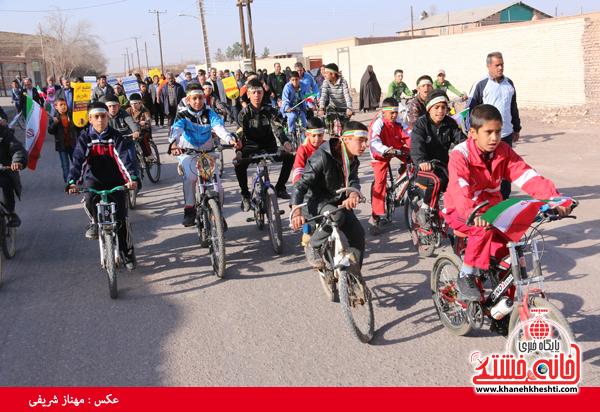 همایش دوچرخه سواری روستای قاسم آباد رفسنجان(خانه خشتی)۸