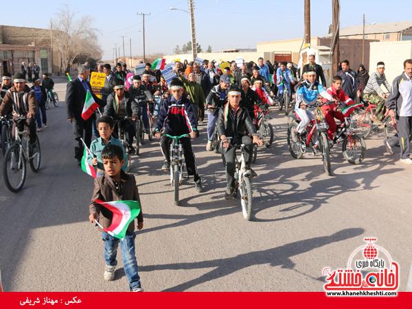 همایش دوچرخه سواری روستای قاسم آباد رفسنجان(خانه خشتی)۹
