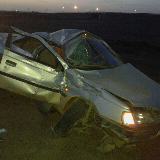 واژگونی پژو یک کشته بر جای گذاشت + عکس