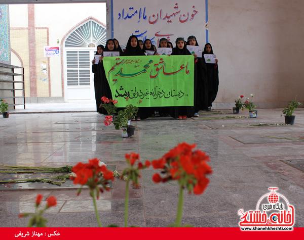 اجرای تواشیح صلوات بر حضرت محمد(ص)در گلزار شهدای رفسنجان+عکس