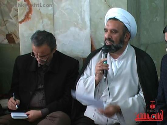 حجت الاسلام محرابی زاده امام جمعه کشکوئیه-خانه خشتی