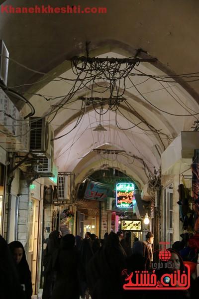 ریزش سقف بازار رفسنجان/ مسئولین میراث فرهنگی در حال پیگیری هستند+عکس