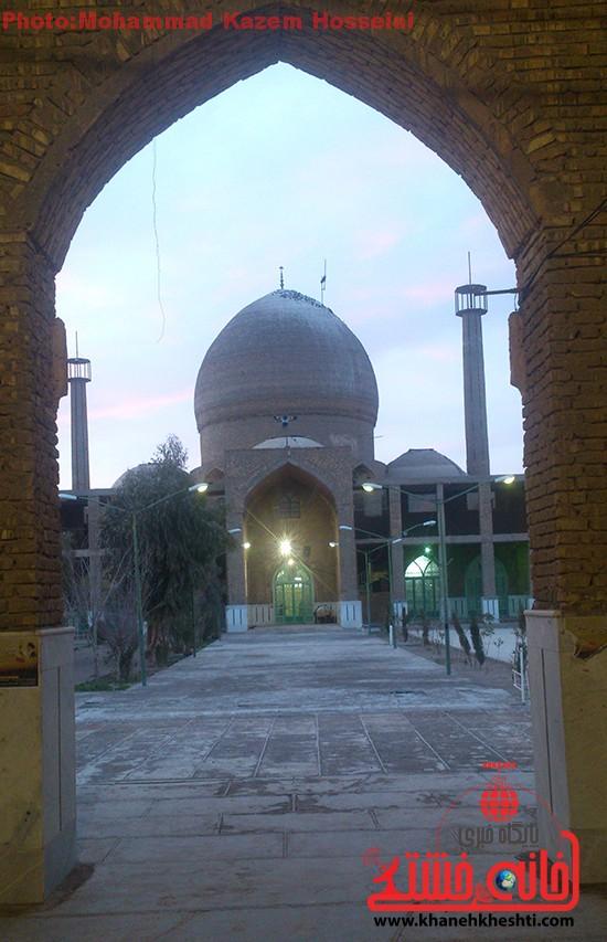 ساخت و ساز فاز جدید شبستان امامزاده سید غریب رفسنجان + عکس