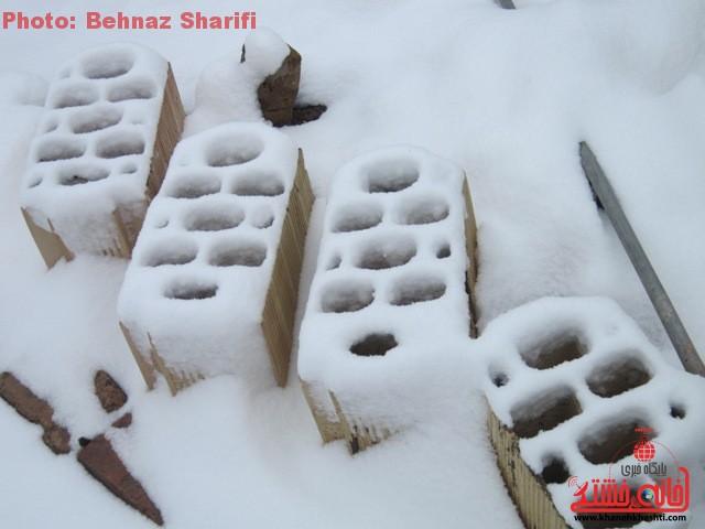 برف زمستانه در رفسنجان_خانه خشتی (۲)